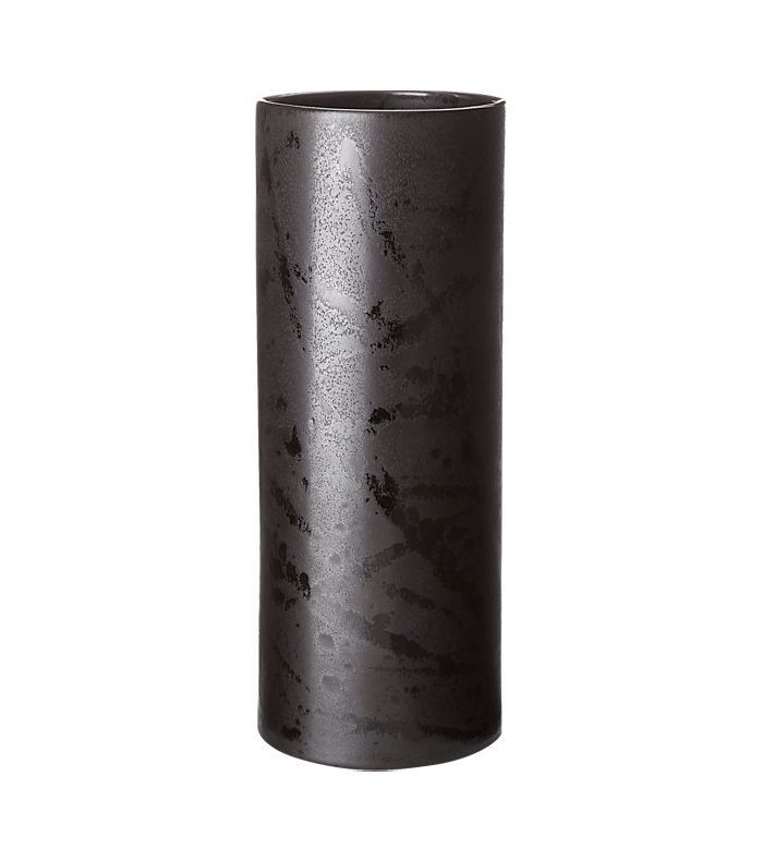 CB2 Sadie Matte Black Vase