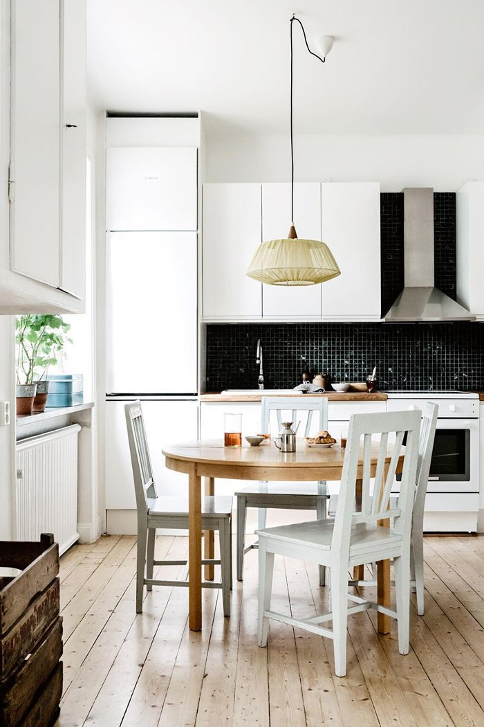 Small-Space Scandinavian Design—Black-and-White Kitchen