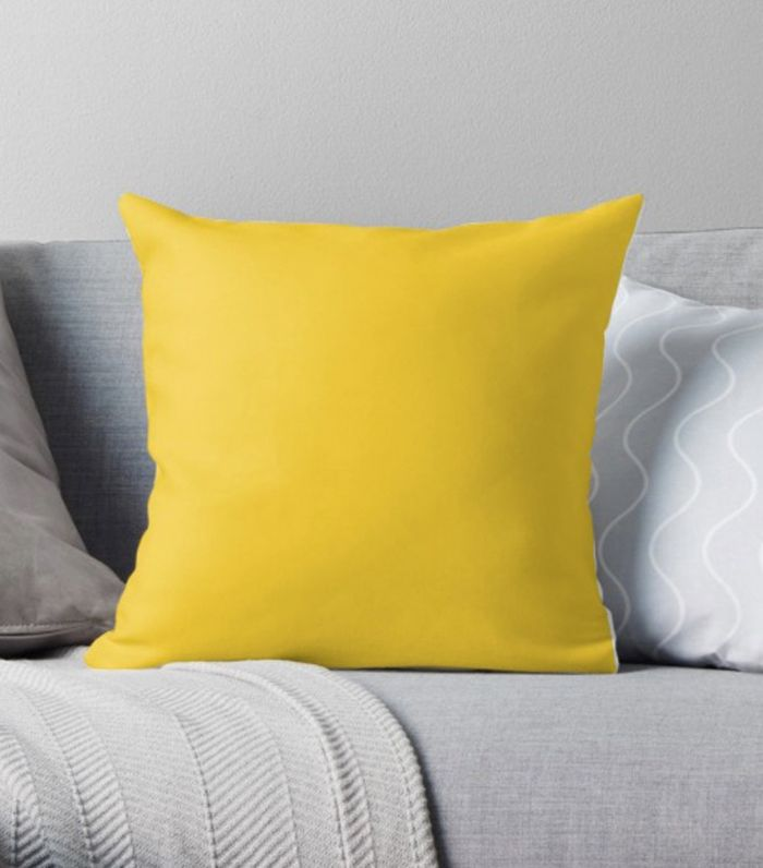 Red Bubble Yellow Pillow