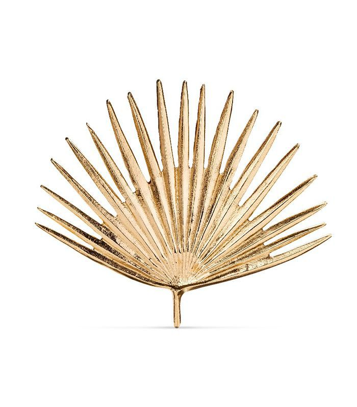 Target Cast Metal Gold Palm Leaf