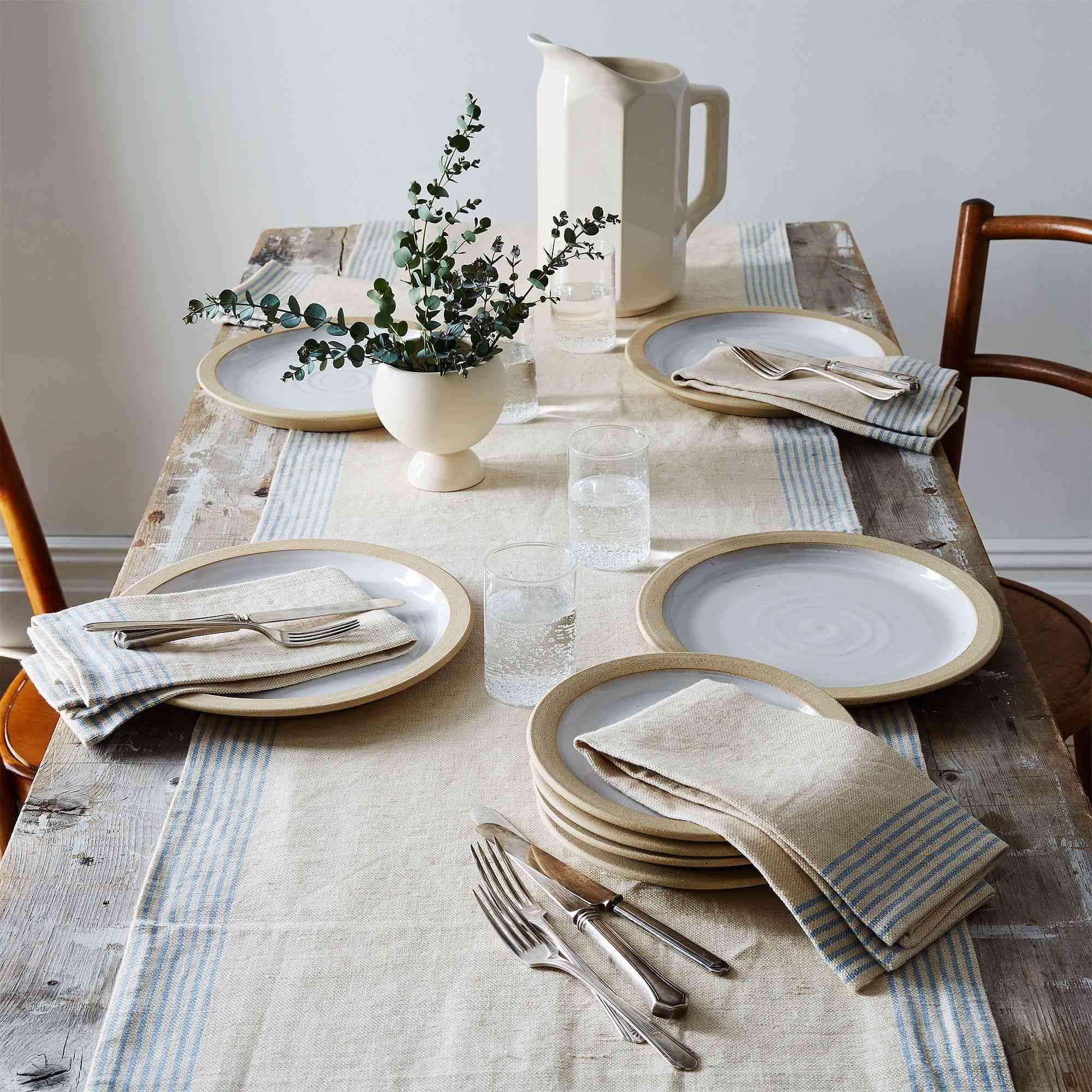 Farmhouse Pottery Agrarian Striped Linen Napkins