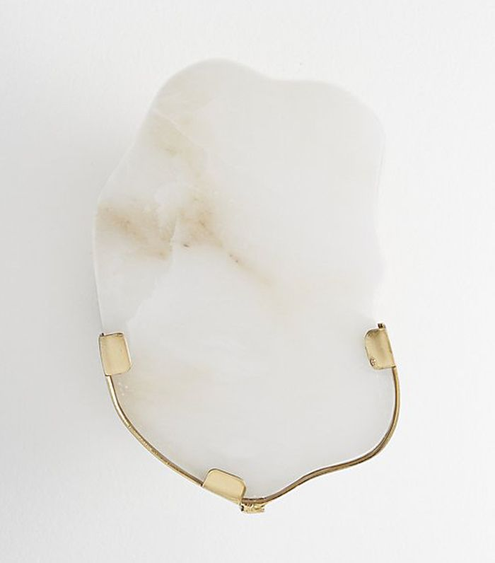 Raw Edge Alabaster Wall Sconce