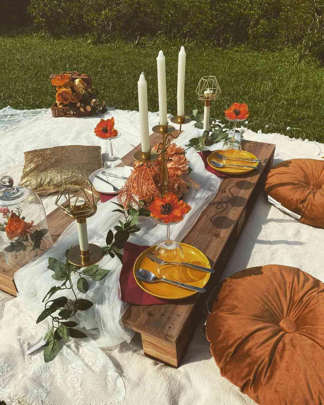 outdoor party decor picnic