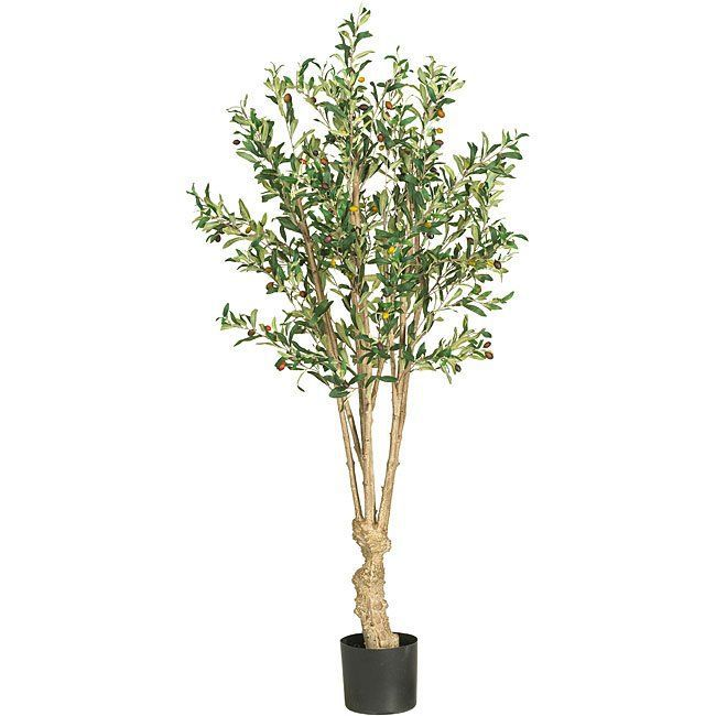 Nearly Natural Silk 5-Foot Olive Tree