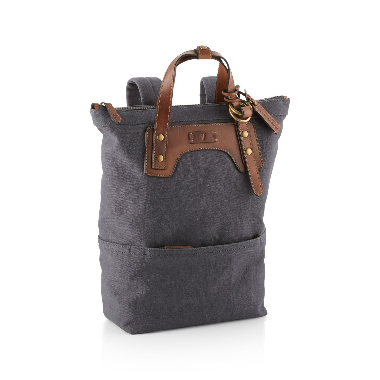 Blue-Grey Canvas Backpack