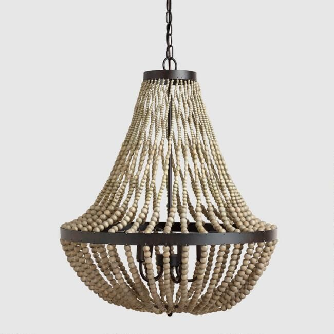 Cost Plus World Market Large Wood Bead Chandelier by World Market