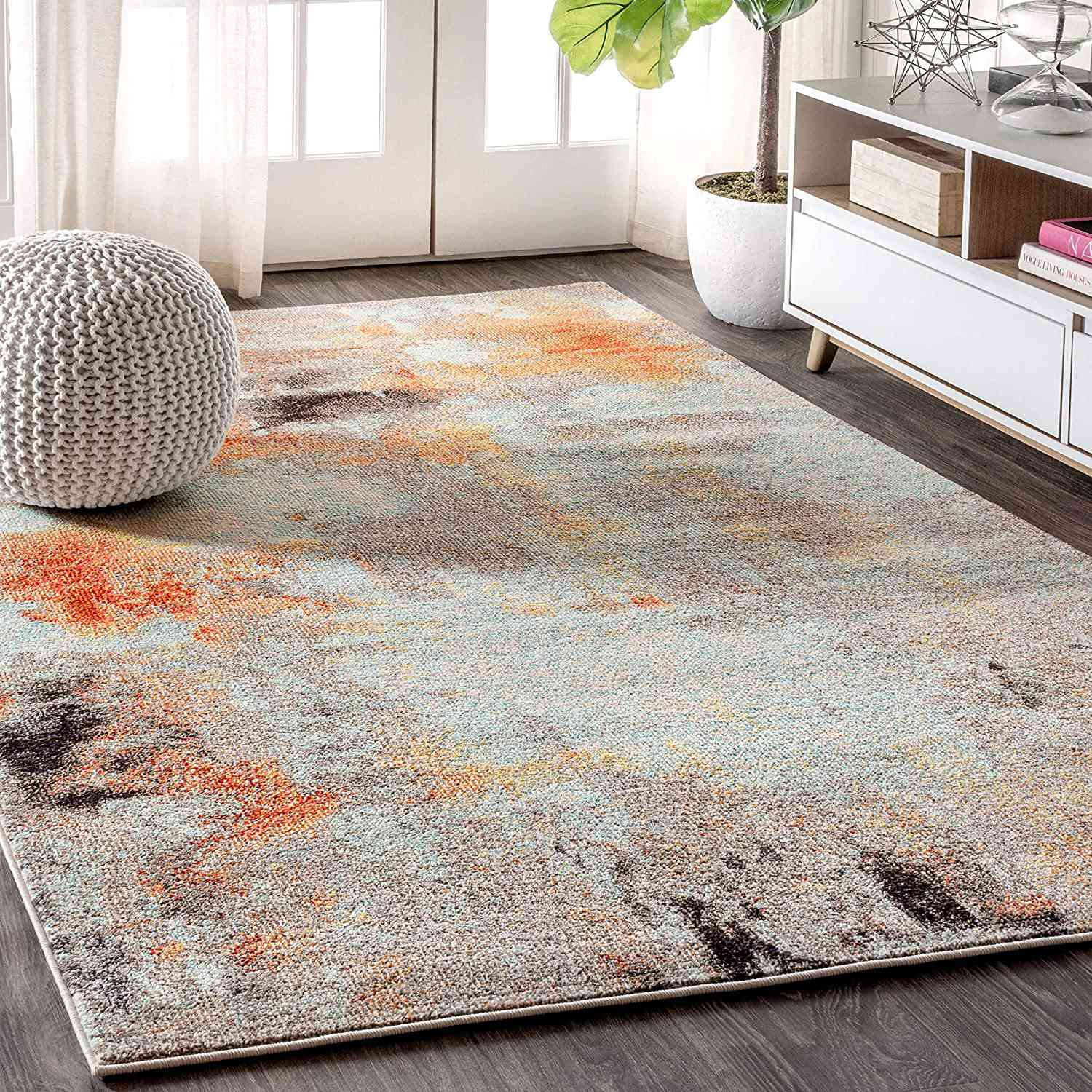 JONATHAN Y Contemporary POP Modern Abstract Vintage Area-Rug