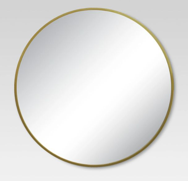 Target Project 62 Round Decorative Wall Mirror Brass