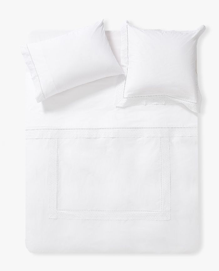 Zara Home Duvet Cover with Geometric Embroidery