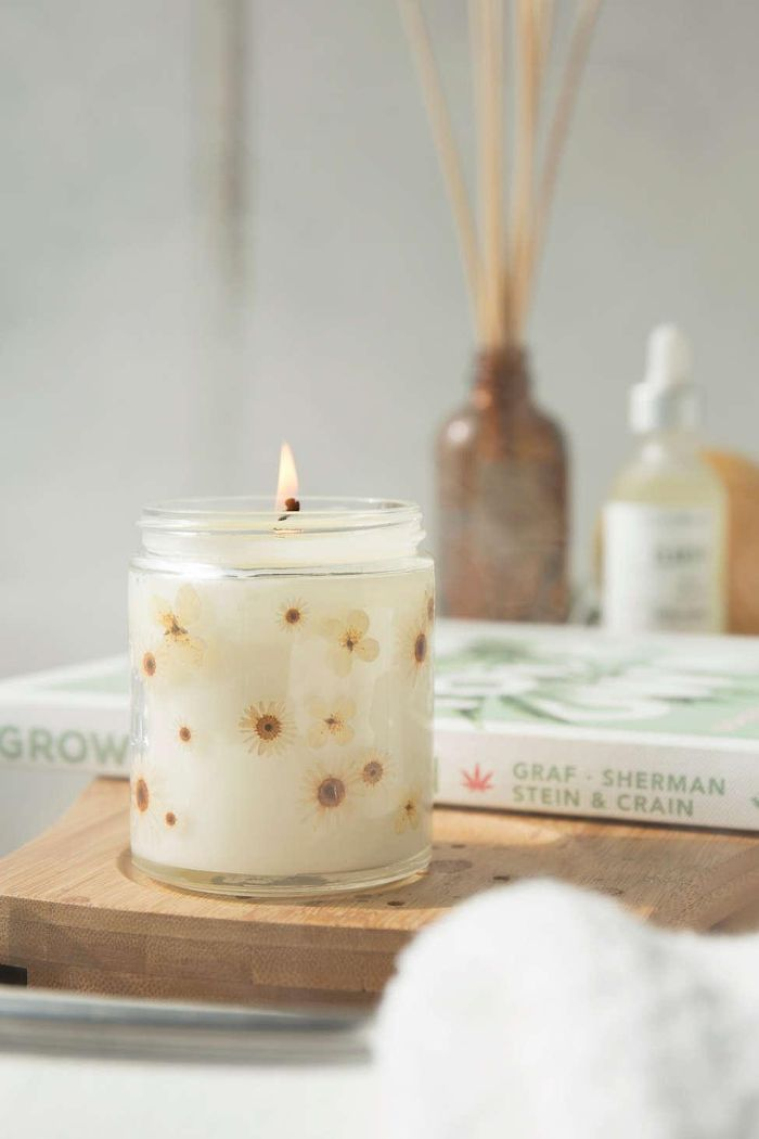 Pressed Botanical Candle