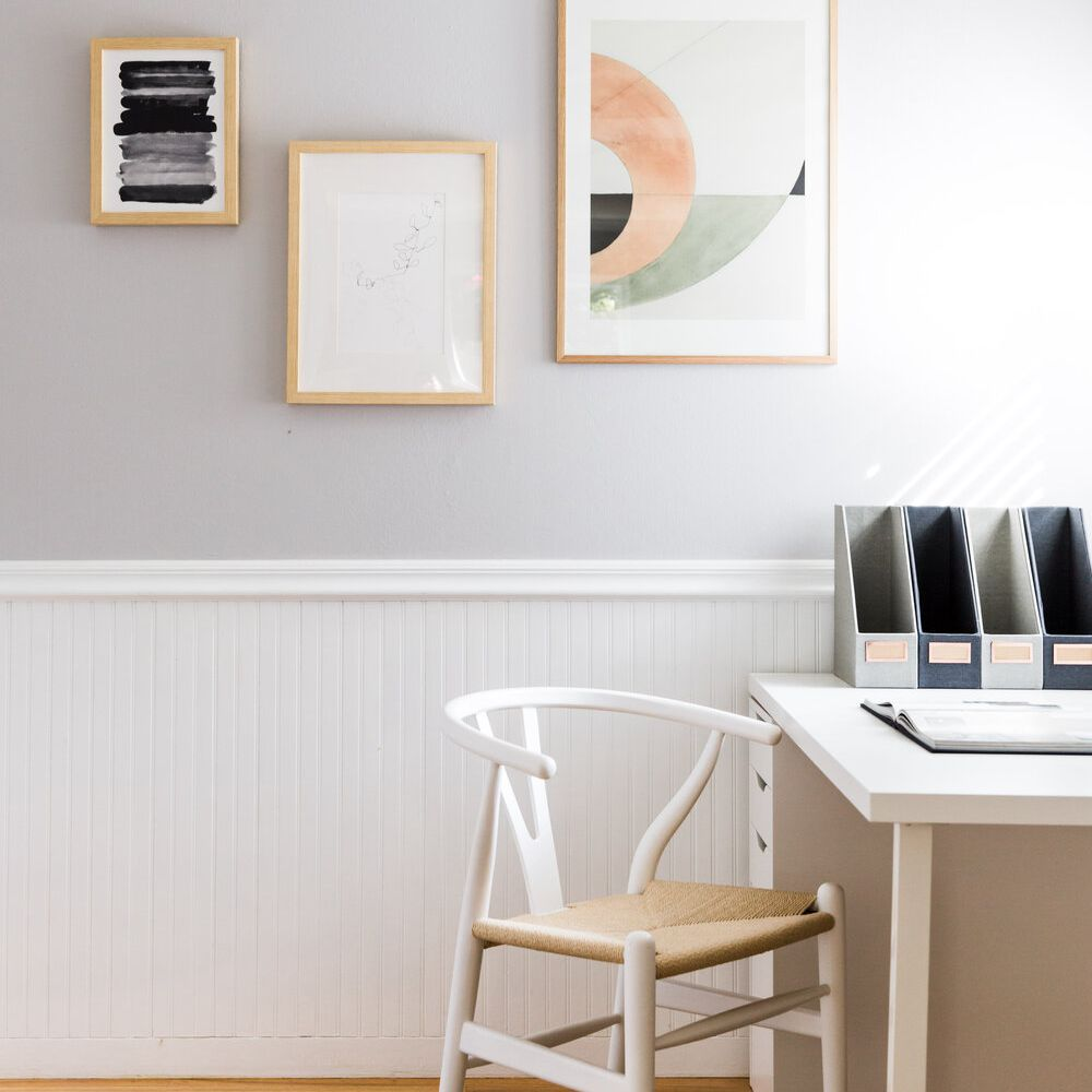 Wainscoting in a home office