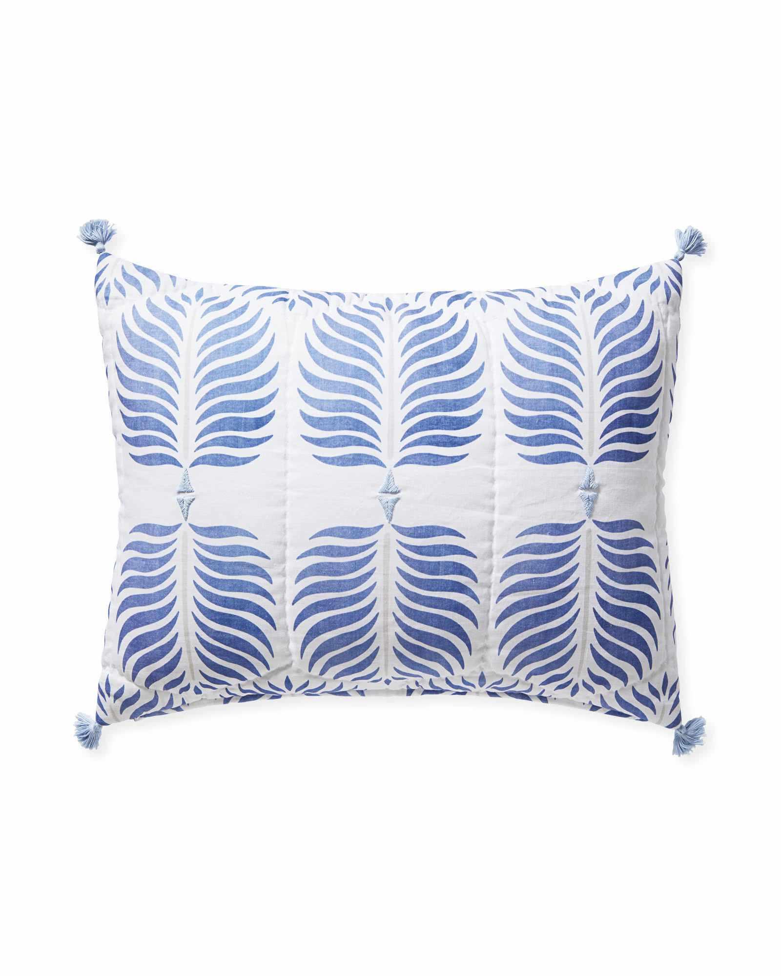 granada palm print pillow sham
