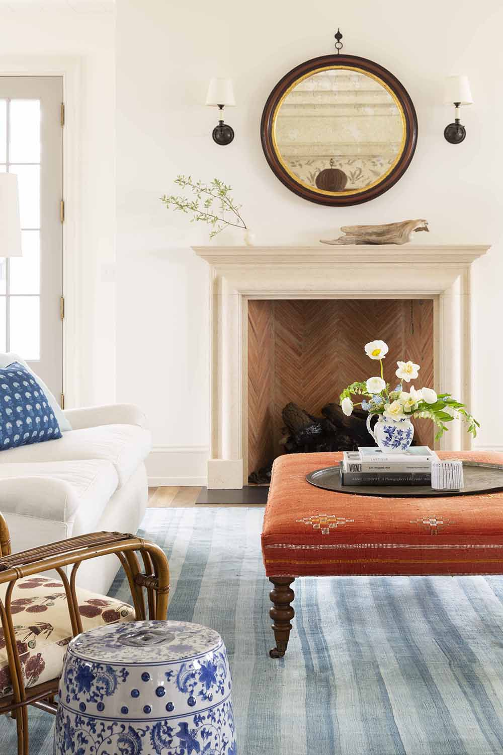 how to clean fireplace with mantel