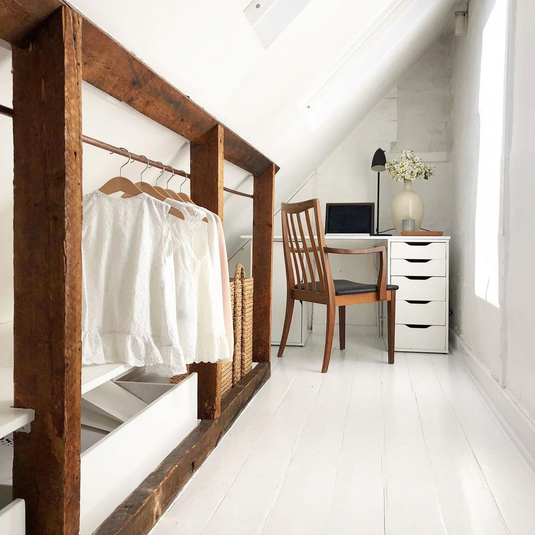 Office in a attic space