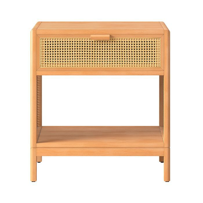 Target Minsmere Caned Accent Table Natural Brown