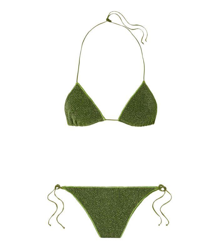 Lumière Stretch-lurex Triangle Bikini
