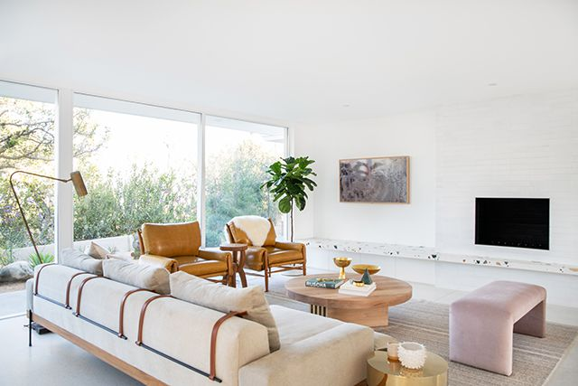 10 Living Rooms with Fireplaces Made For a Night In