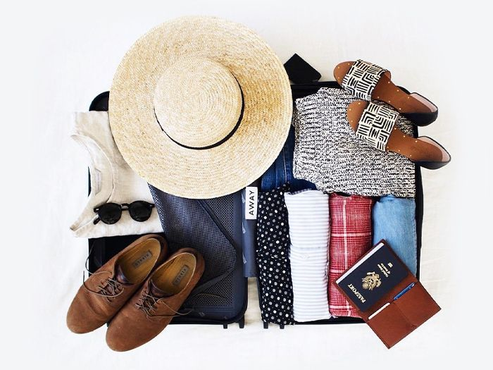 a well packed travel wardrobe