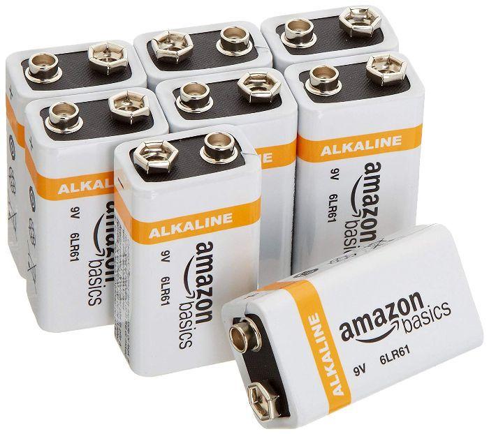 Amazon Basics 9 Volt Everyday Alkaline Batteries (8-Pack)