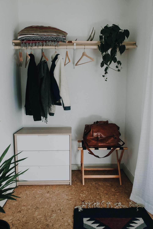 Closet in a guest room