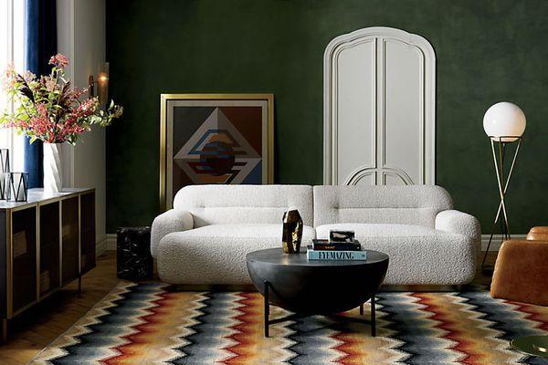 White sofa CB2