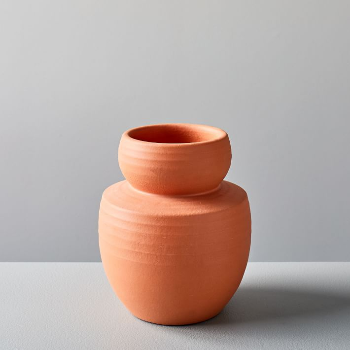 Rounded Terracotta Vase