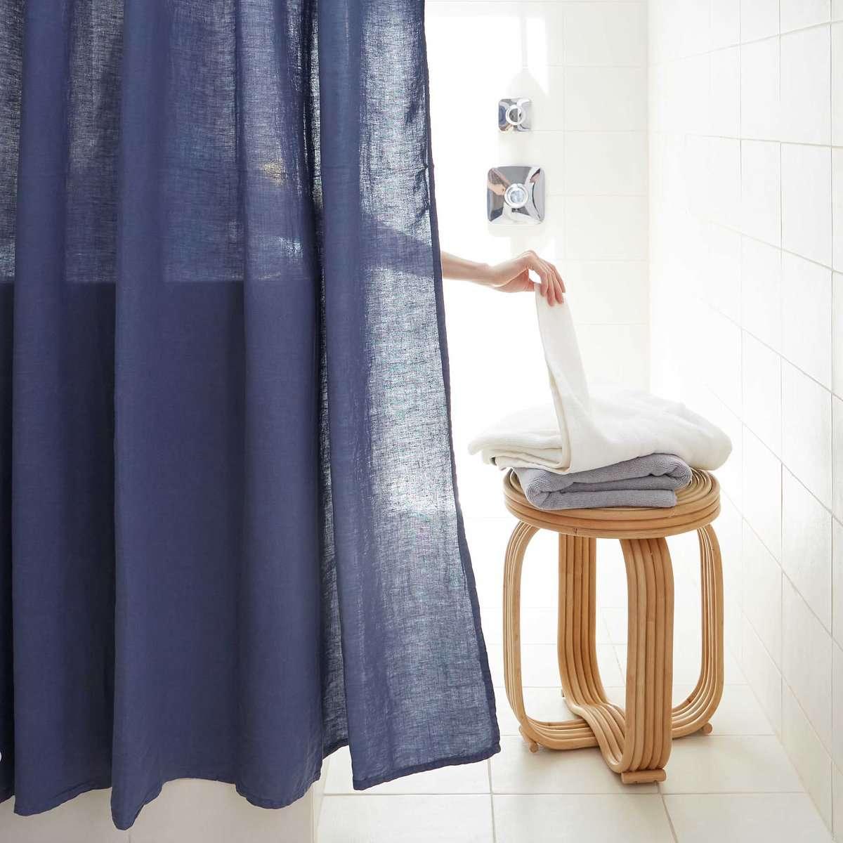Brooklinen Linen Shower Curtain Set
