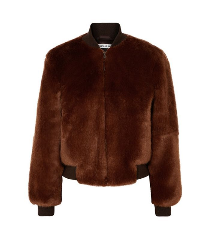 Ellington Knit-trimmed Faux Fur Bomber Jacket