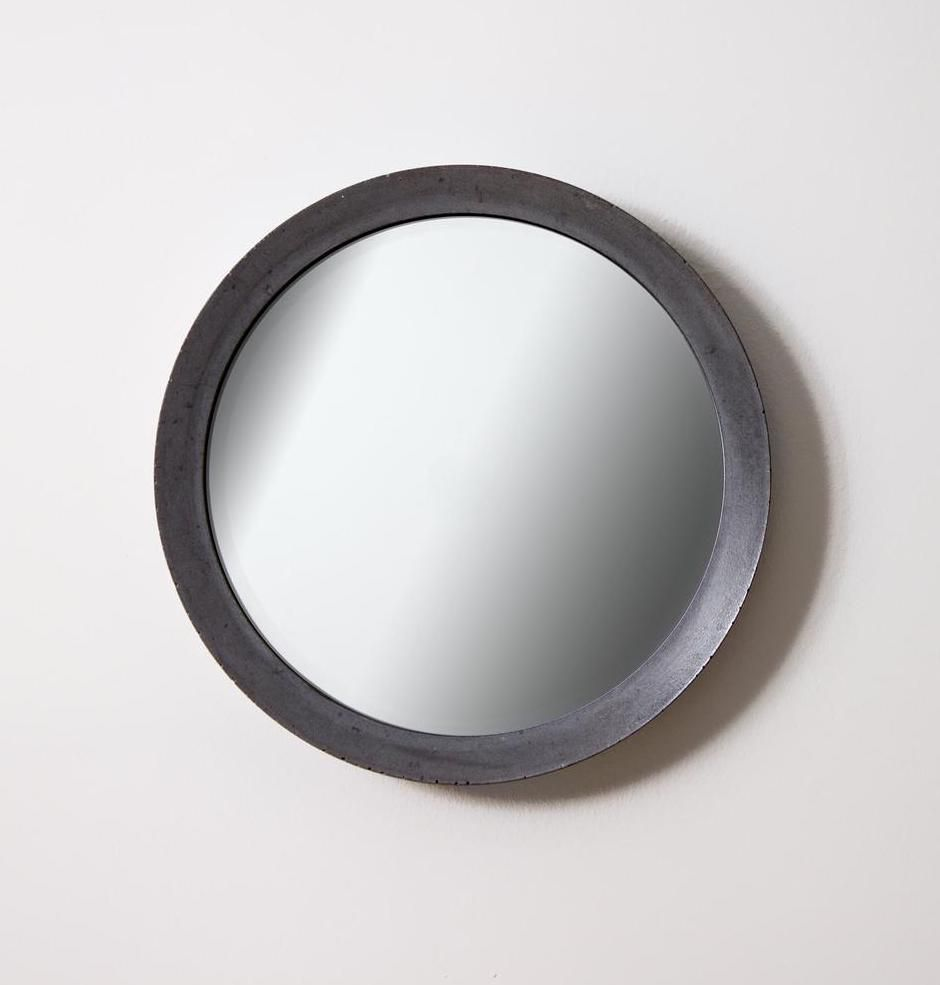 A slate gray mirror, currently for sale at Etsy
