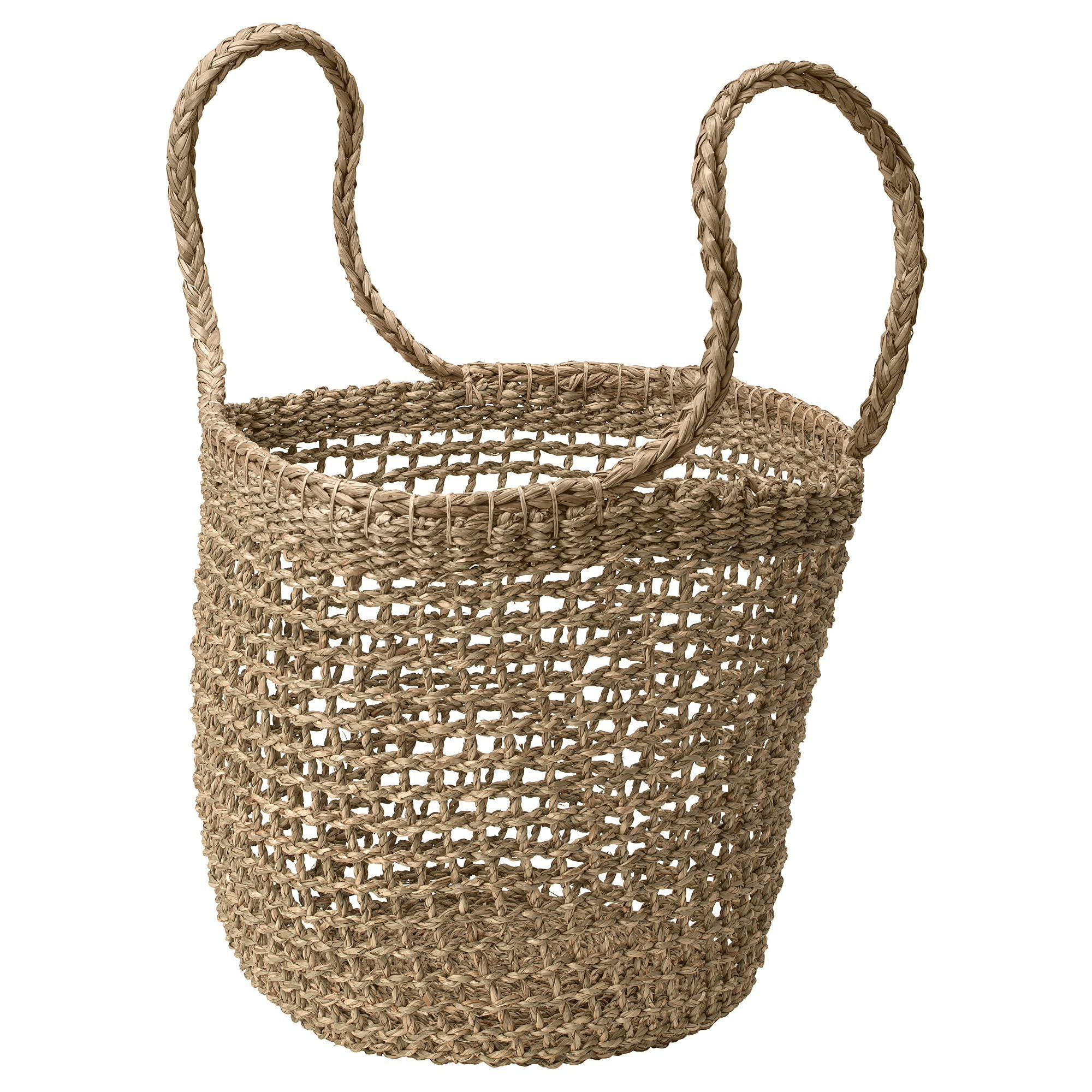 TÄNKVÄRD Seagrass Basket with Handles