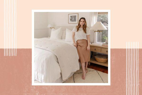 Chrissy Hunter in her bedroom.