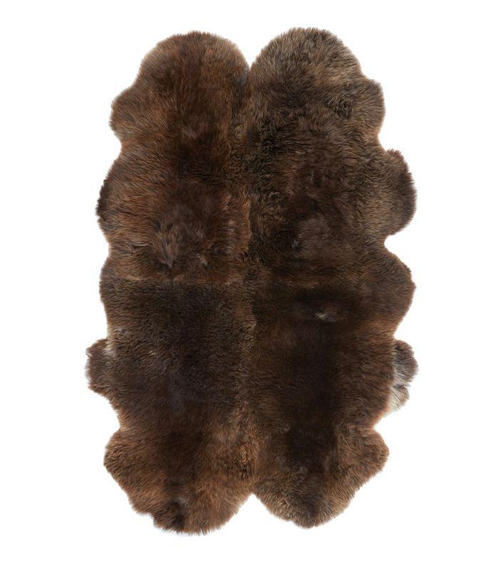 Quarto Natural Black Sheepskin Rug