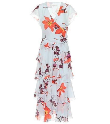 Floral-Printed Silk Midi Dress