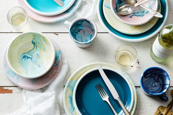 Bornn Multi-Color Enamel Dinnerware