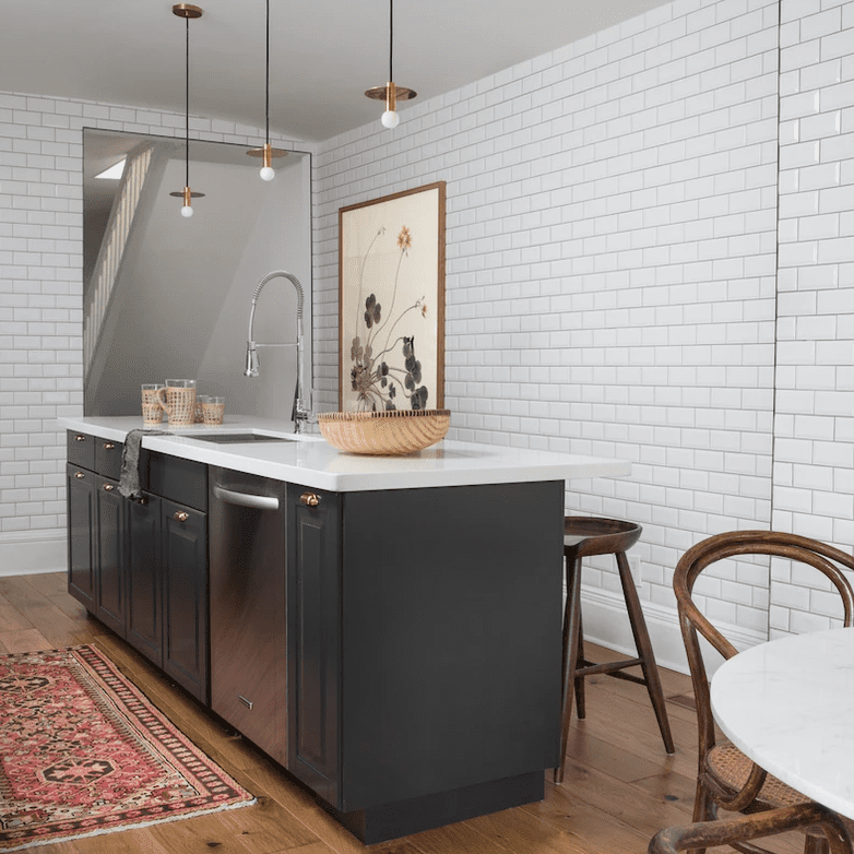 how to clean hardwood floors - kitchen with hardwood floors
