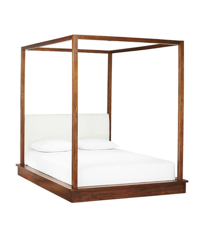 CB2 Bali Wood Canopy Bed Queen