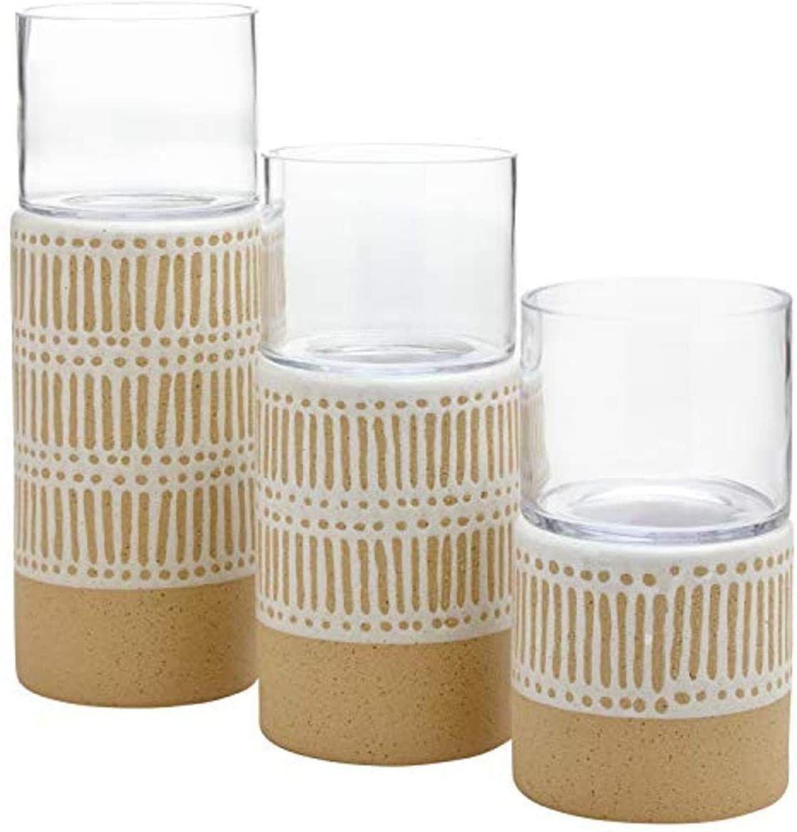 Stone & Beam Emerick Glass Vases (Set of 3)
