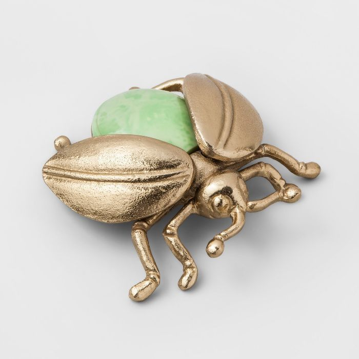 Opalhouse Decorative Metal Scarab Figurine