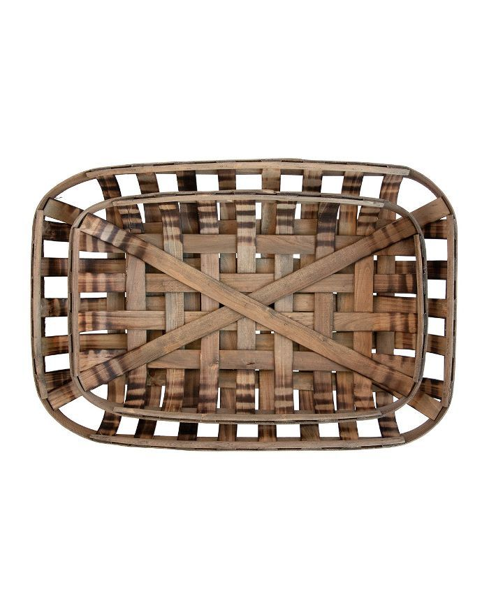 Studio McGee Wooden Strip Basket