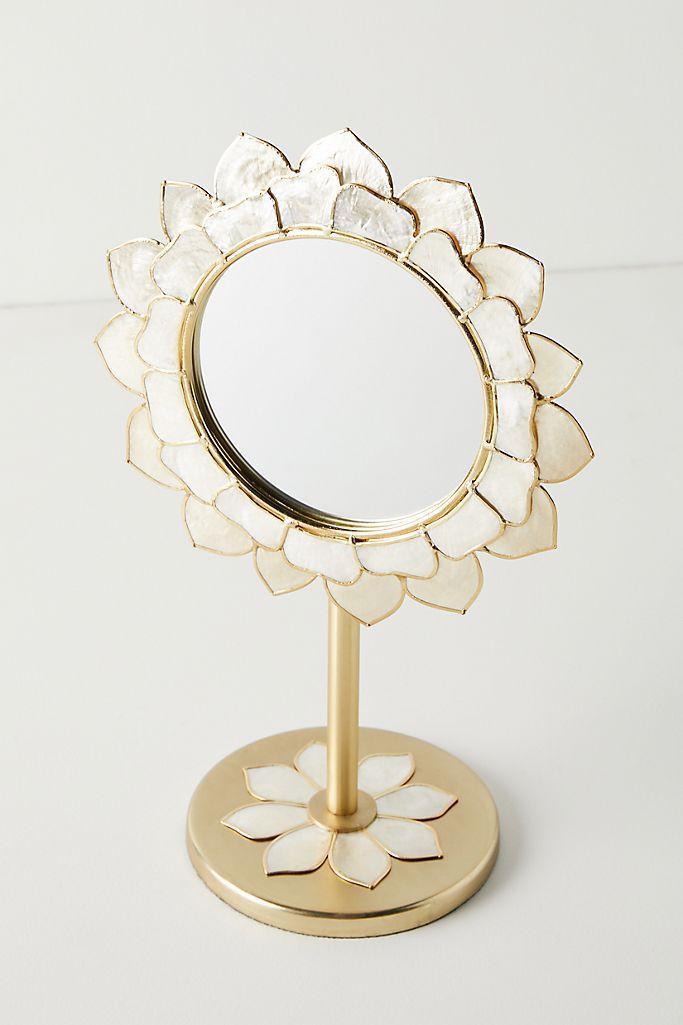 Anthropologie Penny Ombre Capiz Vanity Mirror