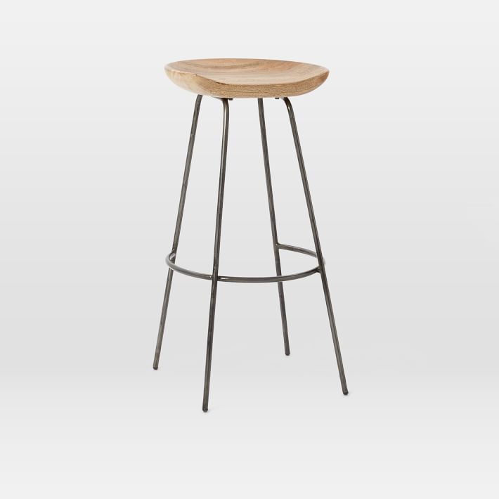 Alden Bar Stool in Natural Mango