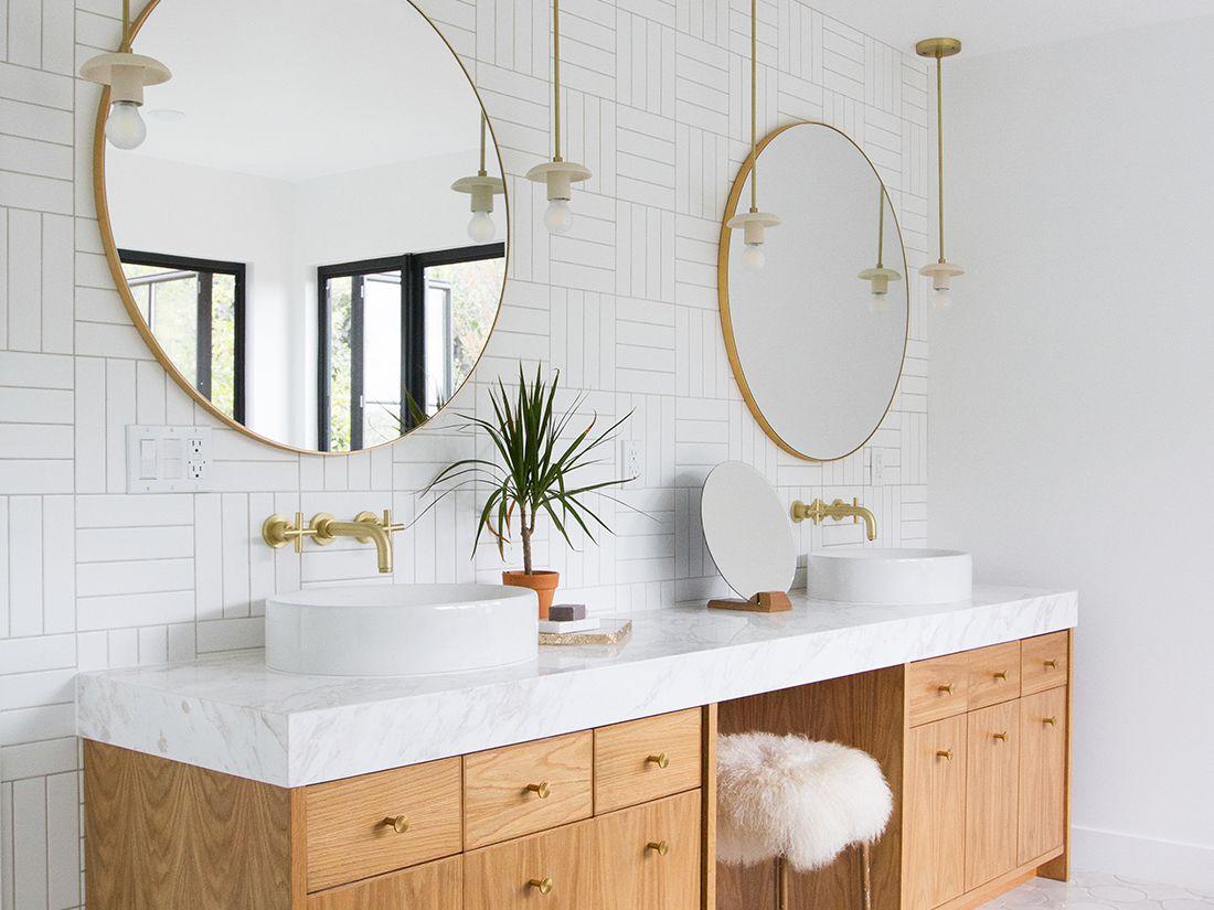 Beautiful Bathroom Vanity Cabinet Designs and Bathroom Tiles Design
