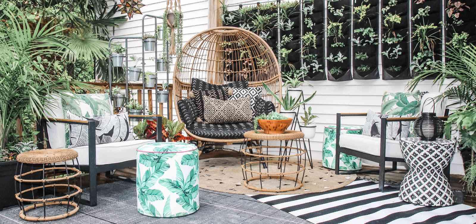 back patio boho style