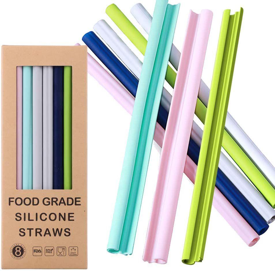 FORI Reusable Silicone Straws-Premium