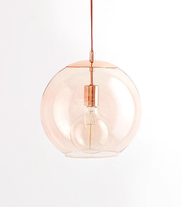 Urban Outfitter Emelle Glass Globe Pendant Light