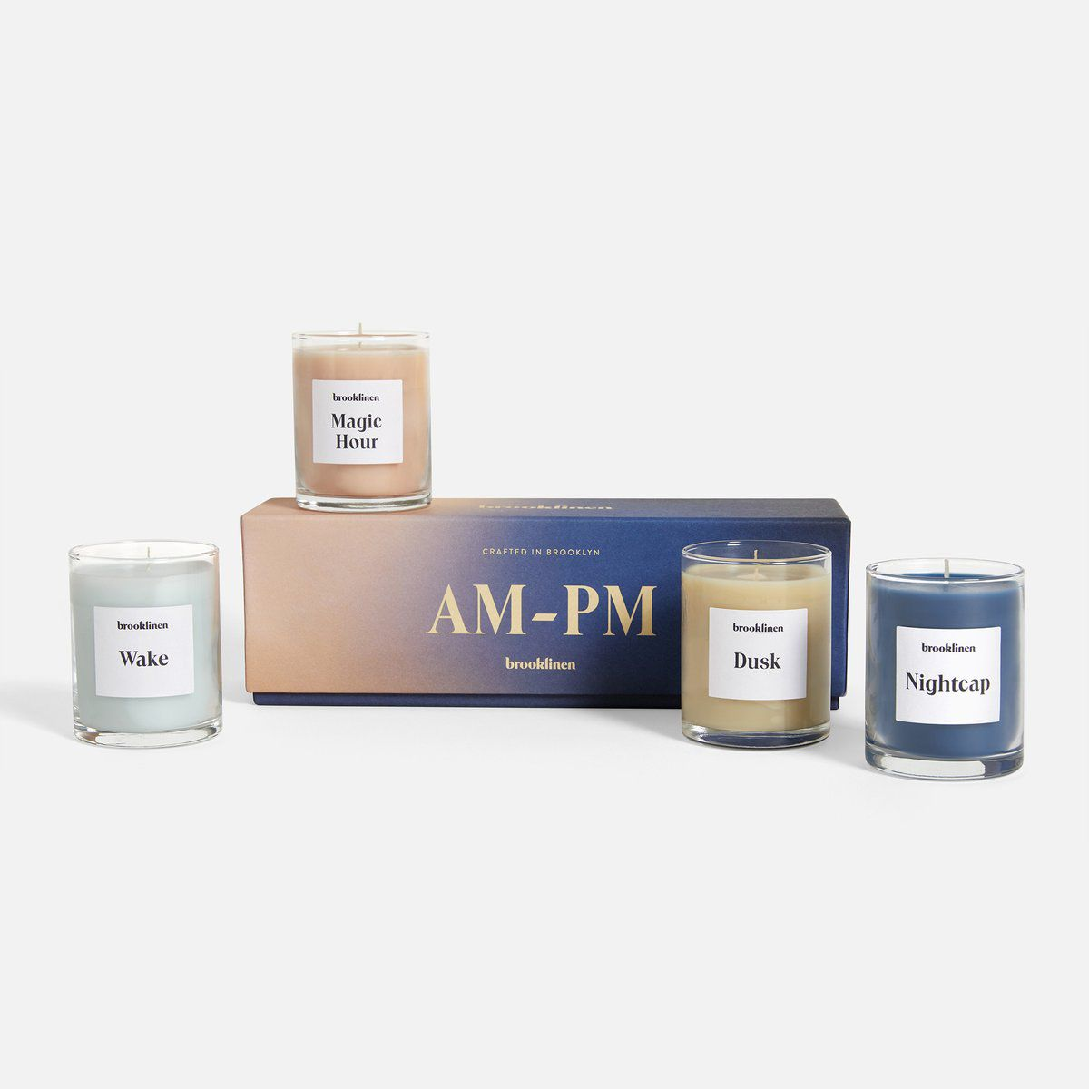 Brooklinen AM to PM Candle Set