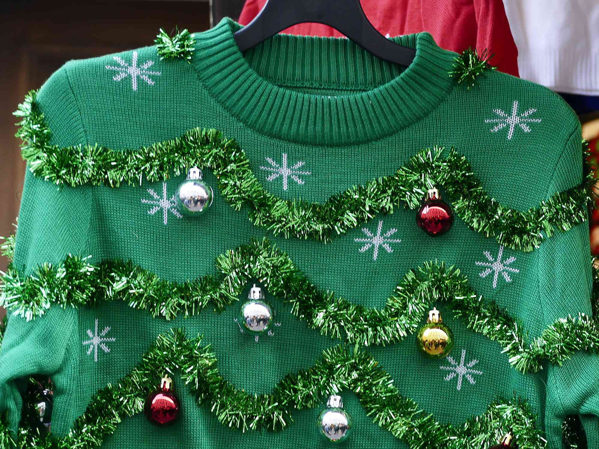 gift exchange ideas - ugly christmas sweater on a hanger