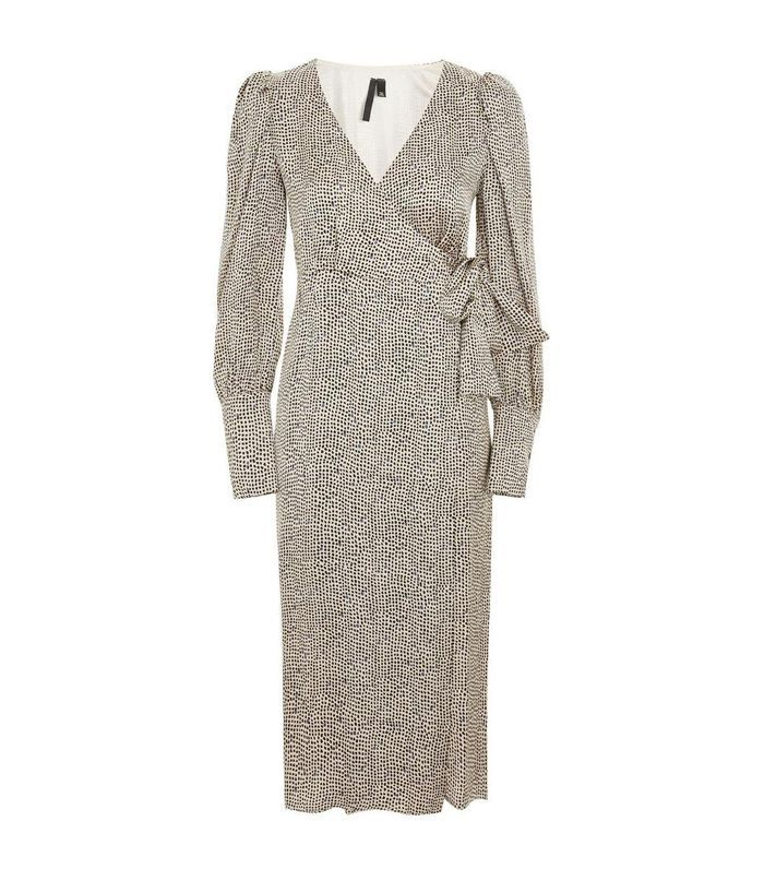 Women's Topshop Boutique Mini Spot Wrap Dress