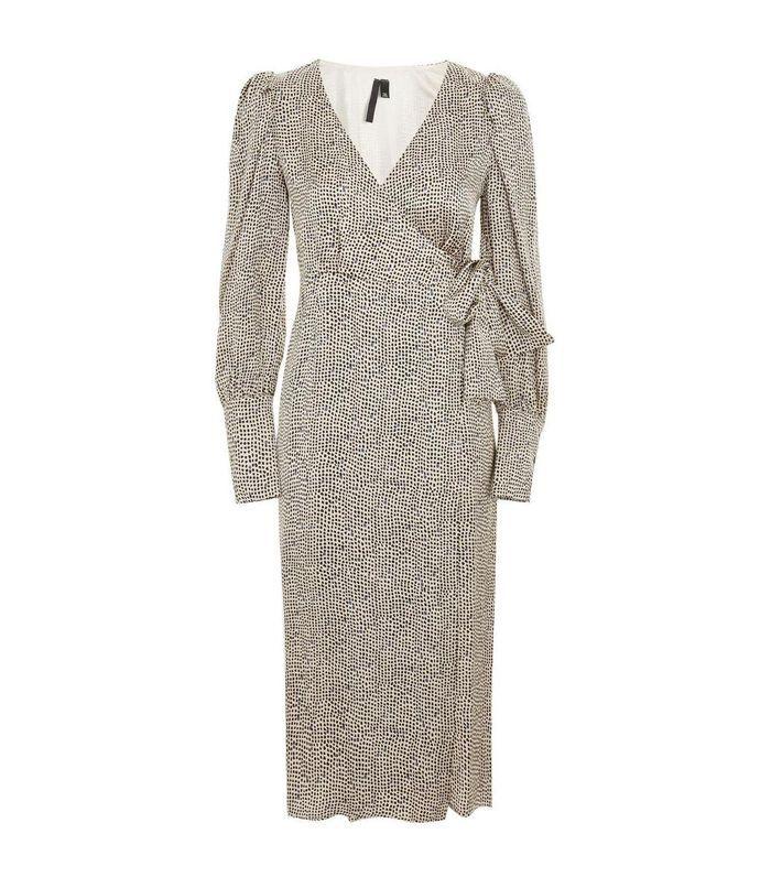 Women's Topshop Boutique Mini Spot Wrap Dress