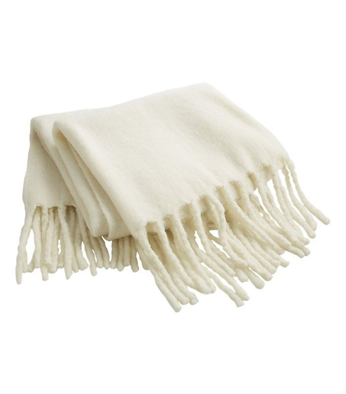 Marlee White Fringe Throw